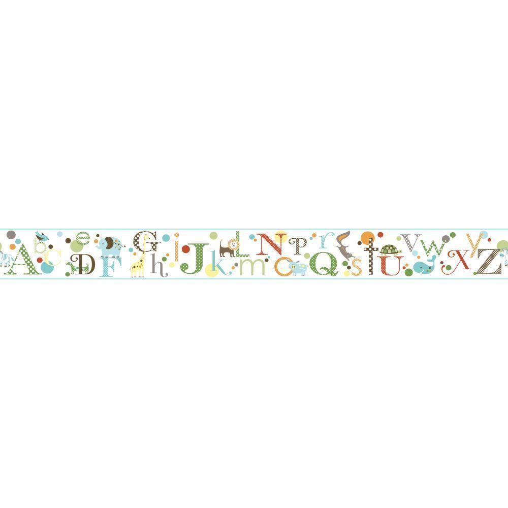 York Wallcoverings Inspired By Color Alphabet Wallpaper Border