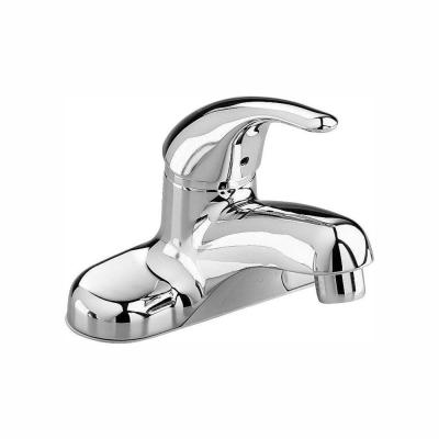 Colony Soft 4 in. Centerset Single Handle Bathroom Faucet in Polished Chrome with Grid Drain