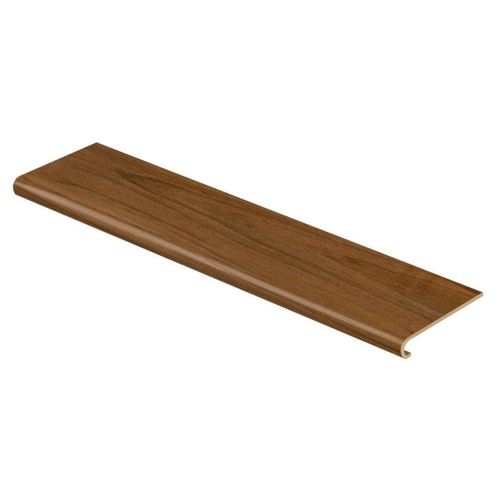 Cap A Tread American Walnut 94 in. Long x 12-1/8 in. Deep x 1-11/16 in. Height Vinyl to Cover Stairs 1 in. Thick