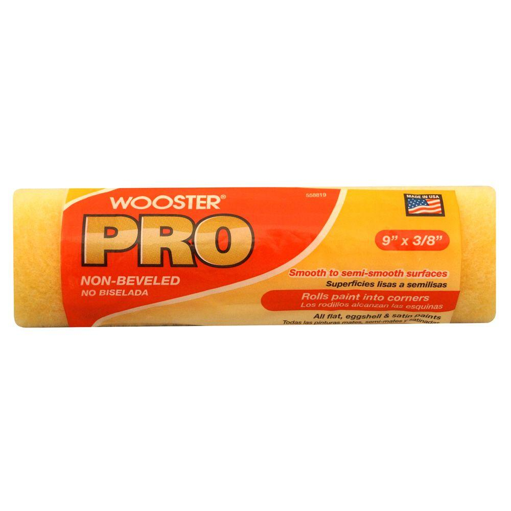 Wooster Pro 9 in. x 3/8 in. High Density Knit Non-Beveled Roller Cover