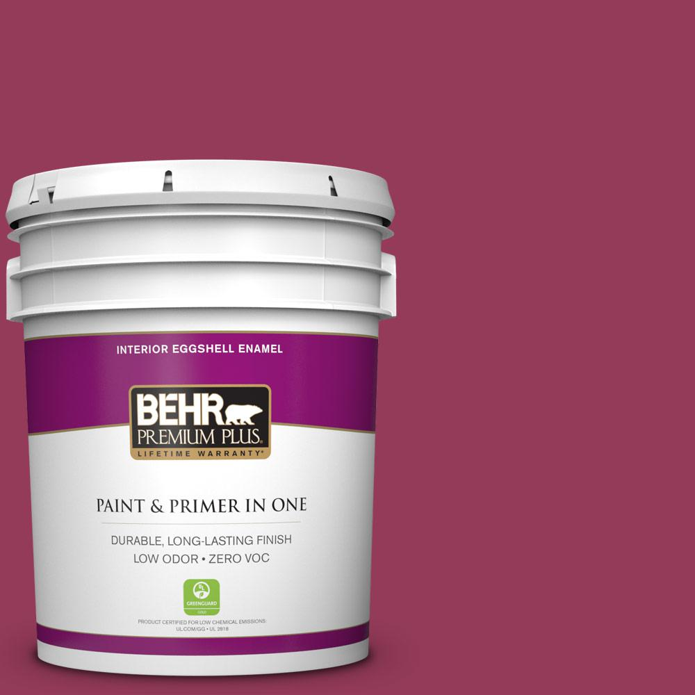 5 gal. #110B-7 Raspberry Pudding Zero VOC Eggshell Enamel Interior Paint