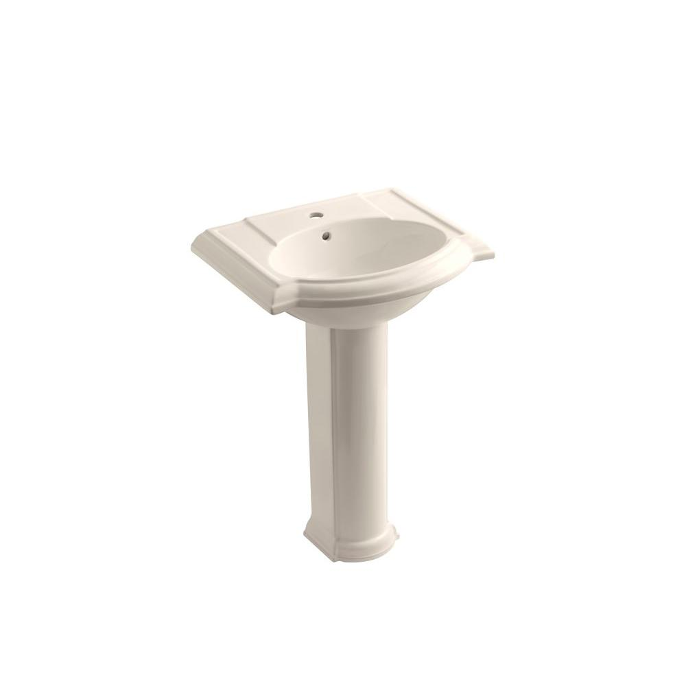 KOHLER Devonshire Pedestal Combo Bathroom Sink in Innocent Blush