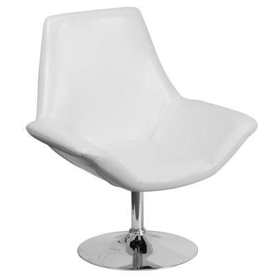 Hercules Sabrina Series White Leather Reception Chair
