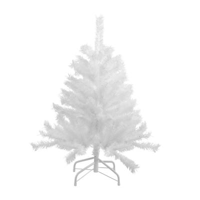 4 ft. Unlit Spruce Artificial Christmas Tree, Icy White