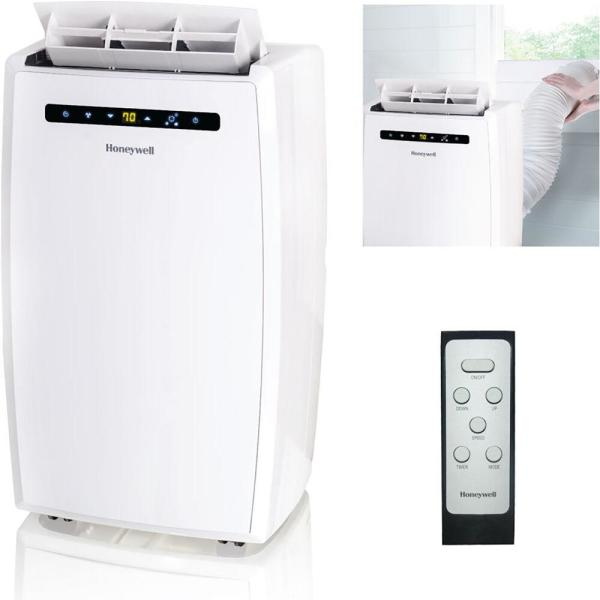 12,000 BTU, 115-Volt Portable Air Conditioner with Dehumidifier and Remote Control in White