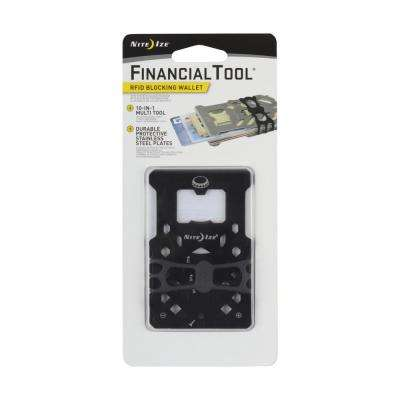 Financial Tool RFID Blocking Wallet, Black