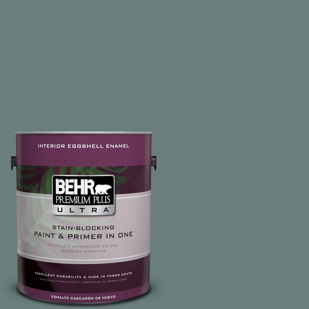 BEHR Premium Plus Ultra 1-gal. #N430-5 Aspen Valley Eggshell Enamel Interior Paint