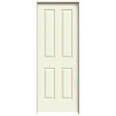 32 in. x 80 in. Coventry Vanilla Painted Left-Hand Smooth Molded Composite MDF Single Prehung Interior Door