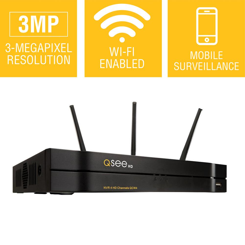 Q-See 4-Channel 3MP 1TB Security Surveillance NVR/Network...