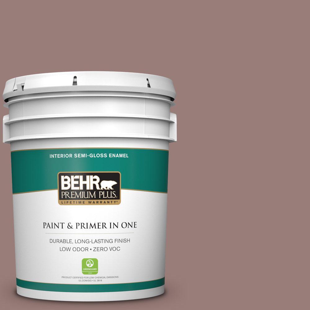 BEHR Premium Plus 5-gal. #180F-5 Cougar Zero VOC Semi-Gloss Enamel Interior Paint