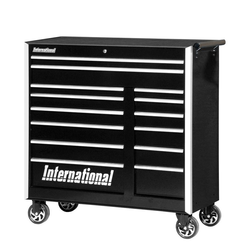 International Pro Series 42 In 14 Drawer Cabinet Black