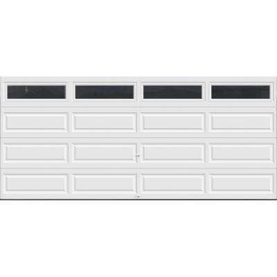 Classic Collection 16 ft. x 7 ft. 12.9 R-Value Intellicore Insulated White Garage Door with Windows Exceptional