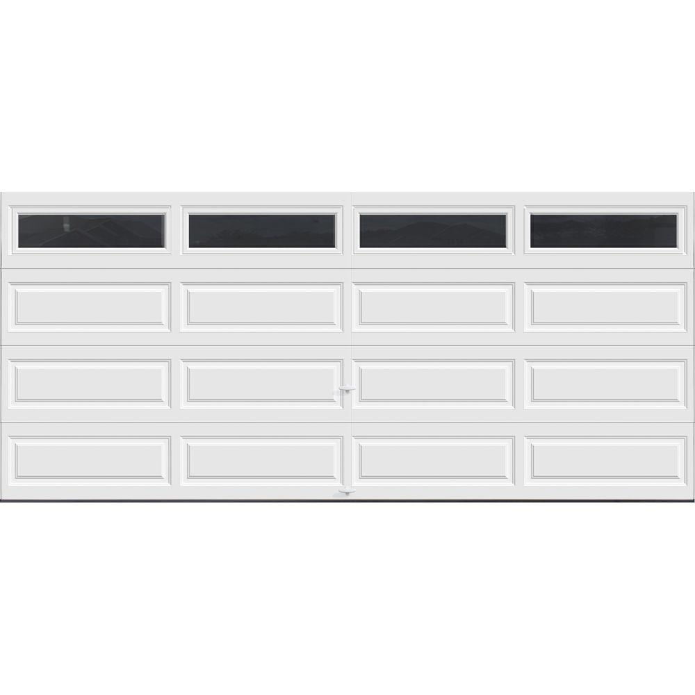 Clopay premium series 16 ft x 7 ft 18 4 r value for 16 x 21 garage door panels