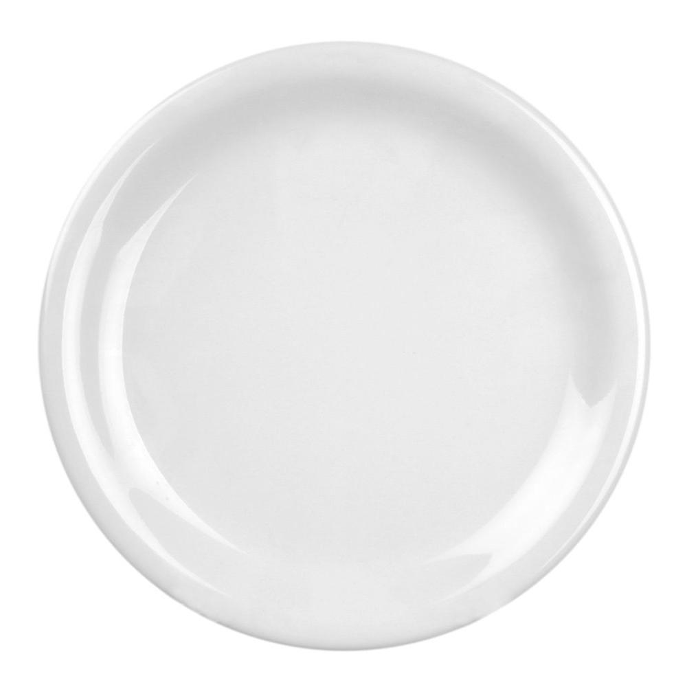 Restaurant Essentials Coleur 10-1/2 in. Narrow Rim Plate in White (12-Piece)