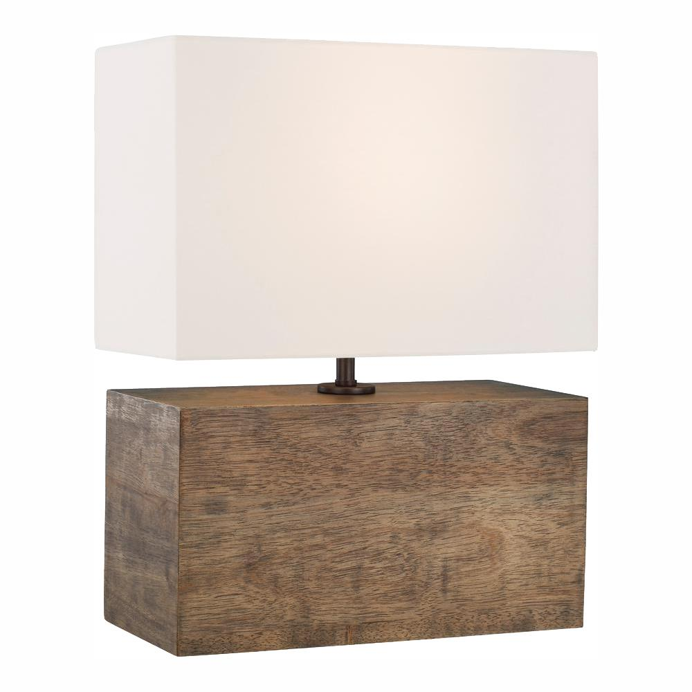 Generation Lighting Designer Collections Ed Ellen Degeneres Crafted By Redmond 19 75 In Weathered Oak Wood Table Lamp With White