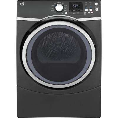 7 5 Cu Ft Capacity Front Load Electric Dryer With Steam In Gray