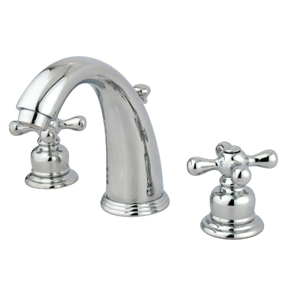 Kingston Brass Victorian 8 in. Widespread 2-Handle Bathroom Faucet in Chrome