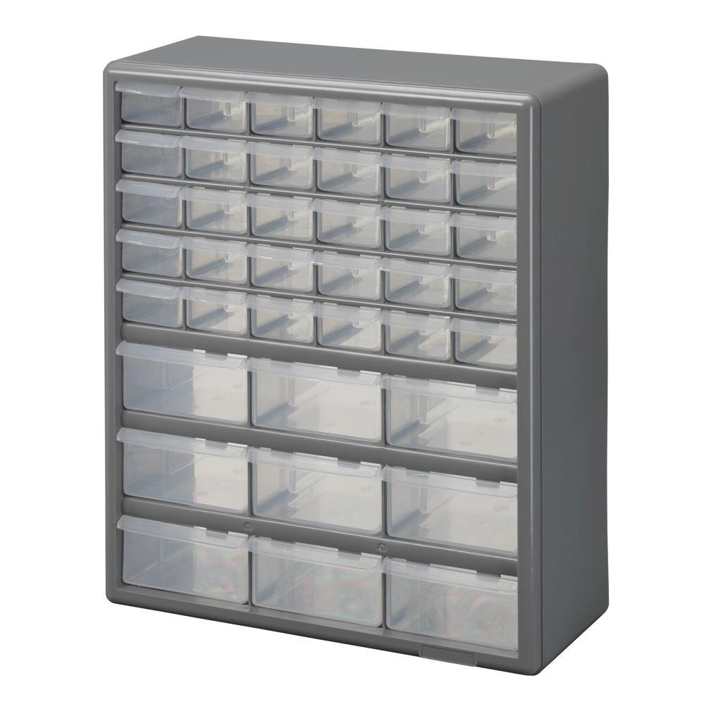 stack on 39 compartment storage small parts organizer ds 39 the rh homedepot com stack-on ds-22b 22-drawer storage cabinet stack-on ds-60 60 drawer storage cabinet