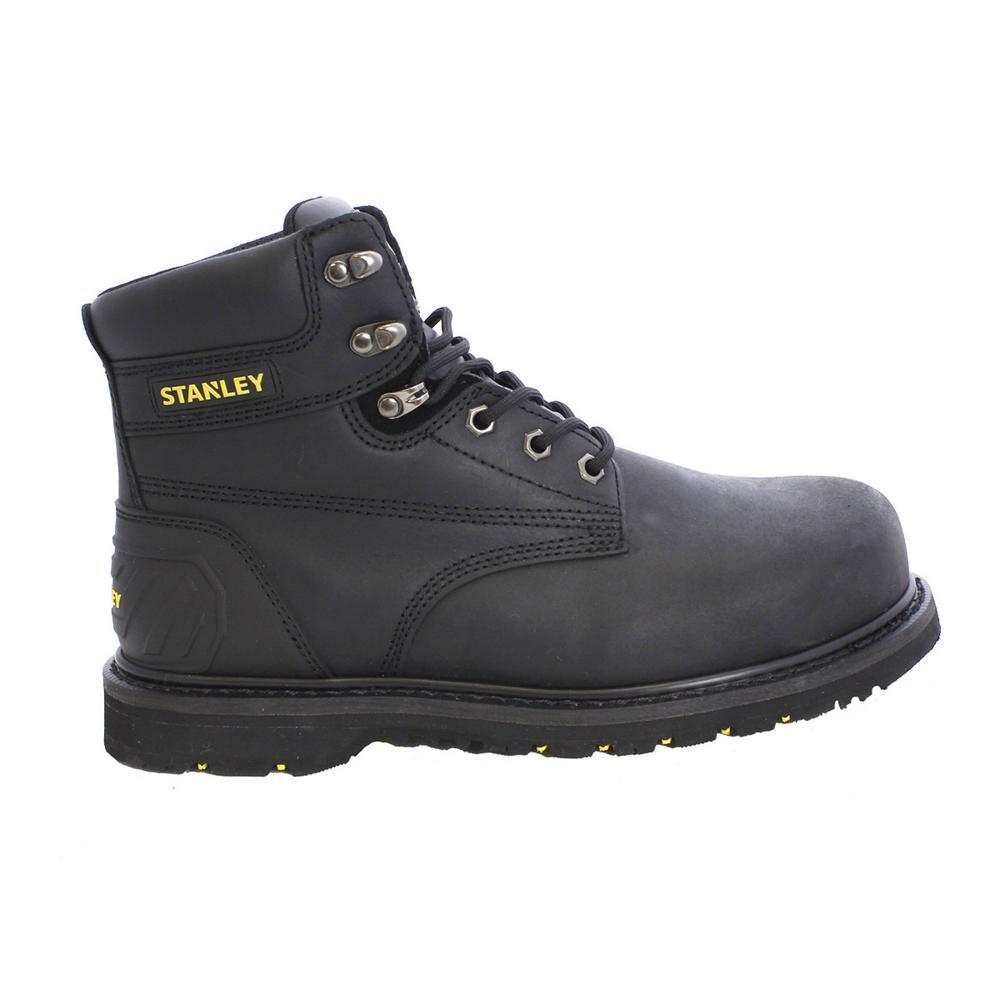 Pro Lite Men 6 in. Size 9 Black Leather Steel Toe Work Boot