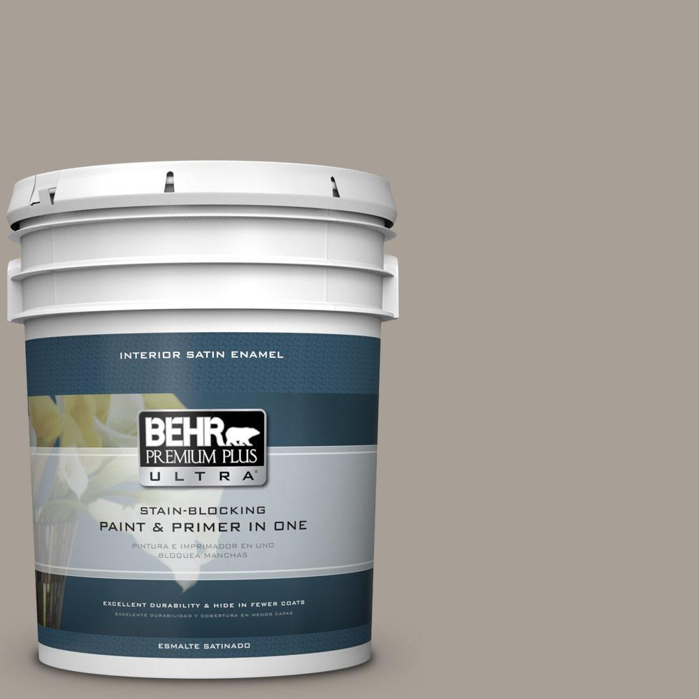 5 gal. #PPU24-09 True Taupewood Satin Enamel Interior Paint
