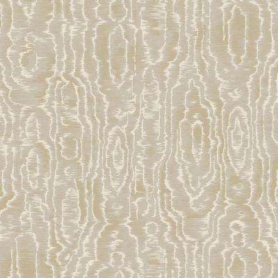 8 in. x 10 in. Salento Taupe Abstract Wallpaper Sample