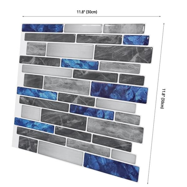 Art3dwallpanels 12 In X 12 In Peel And Stick Backsplash Tile For Kitchen Self Adhesive Blue Marble Wall Tile 10 Sheets H17hd011 The Home Depot,Orange True Color Personality Test