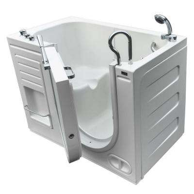 Hydrolife 4.25 ft. x 29.5 in. Right Drain Walk-In Bathtub in White