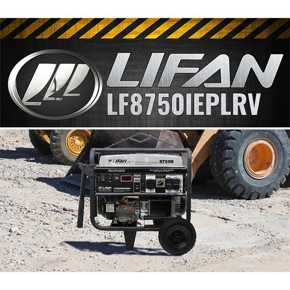 Platinum Series 8,750/8,000-Watt Gasoline with Powered Electric Start Clean Power Portable Generator with 50 Amp RV Plug