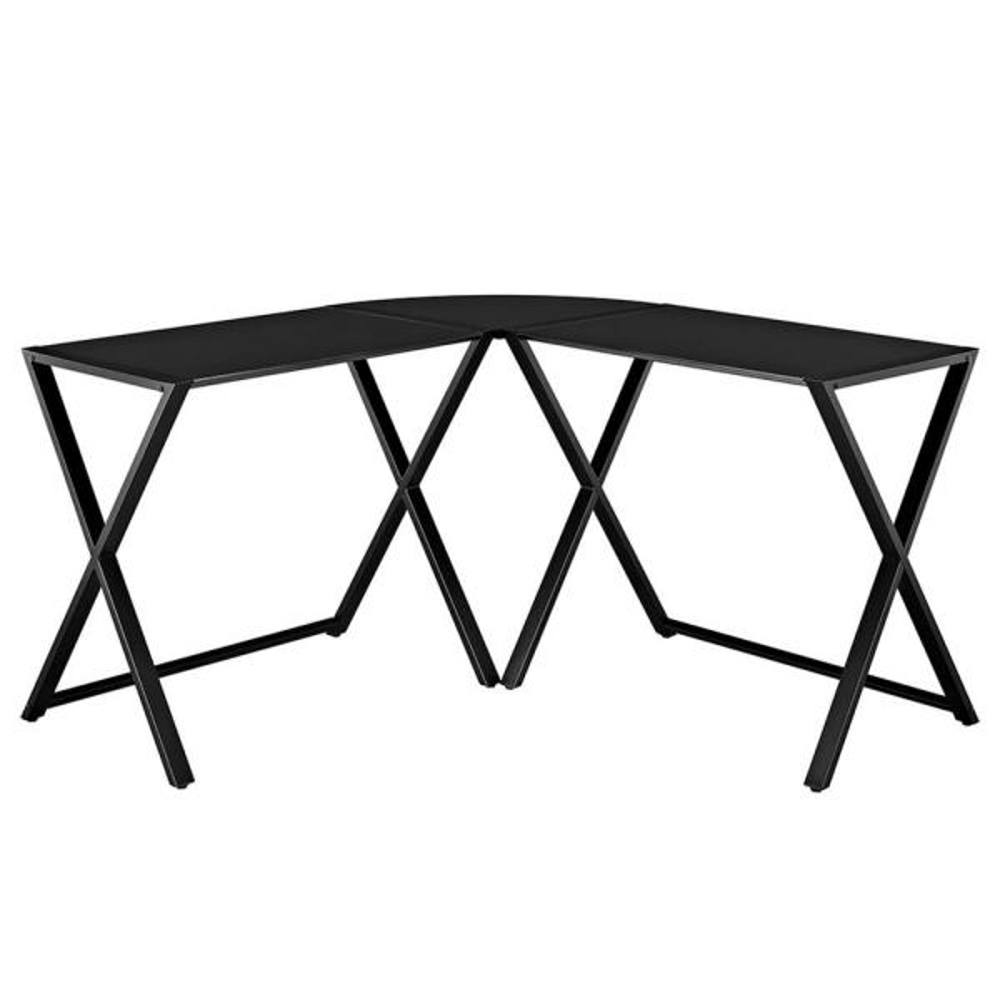 Walker Edison Furniture Company Millwright 6 Piece Black: Walker Edison Furniture Company X-Frame Black Desk
