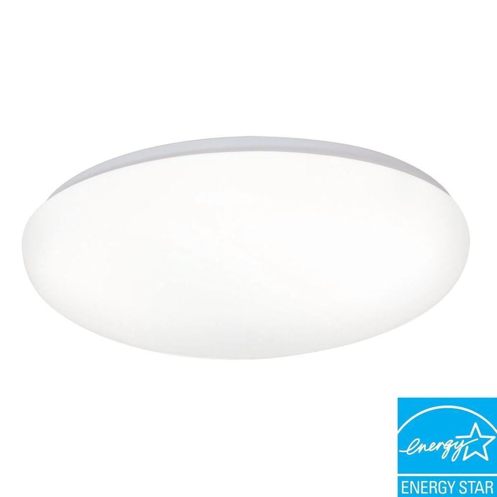 Vintage Round Fluorescent Light Fixture: Design House 1-Light White Fluorescent Ceiling Mount Round