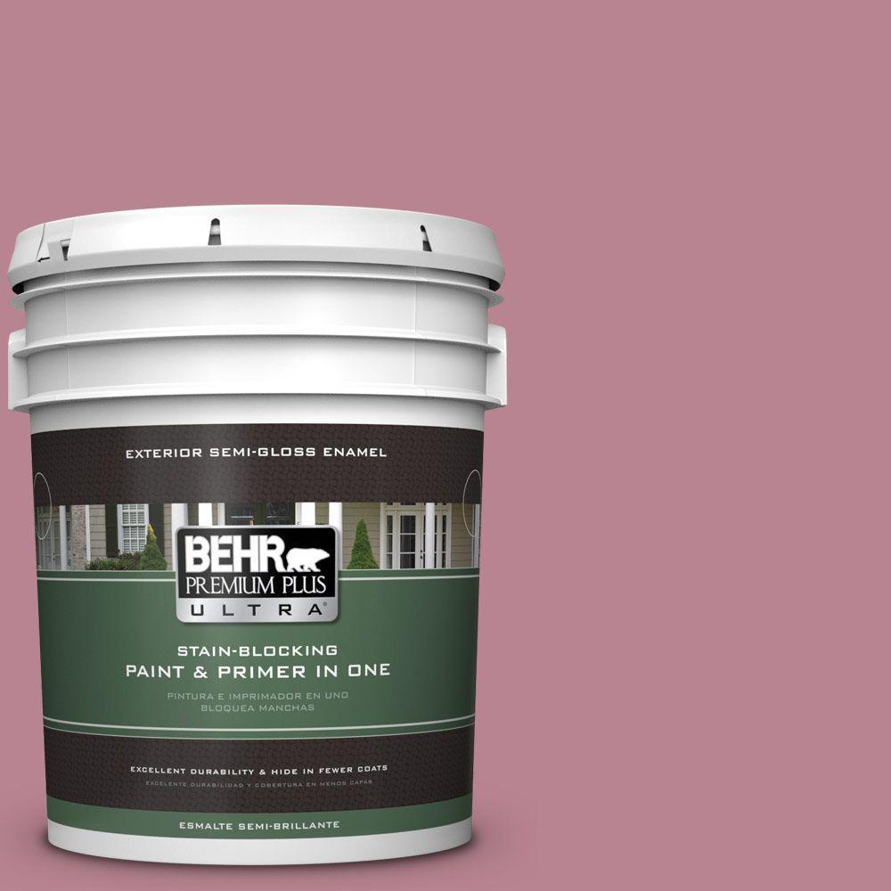 5-gal. #BIC-19 Berry Blush Semi-Gloss Enamel Exterior Paint
