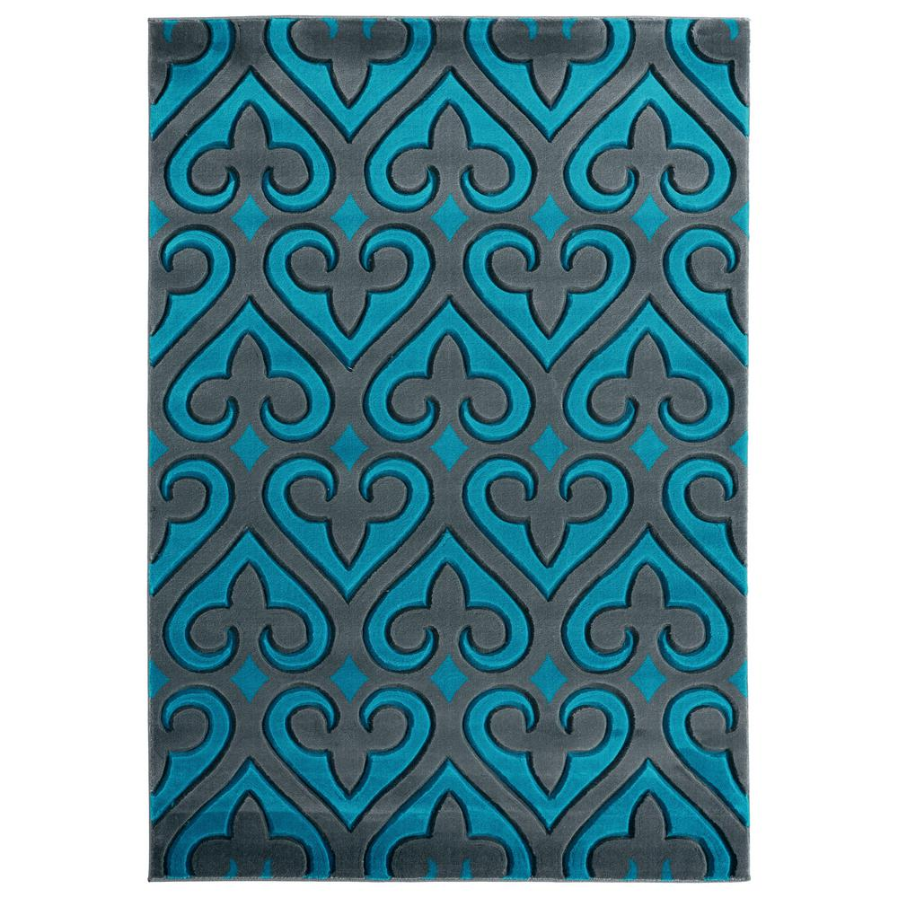 United Weavers Bristol Heartland Turquoise 7 ft. 10 in. x 10 ft. 6