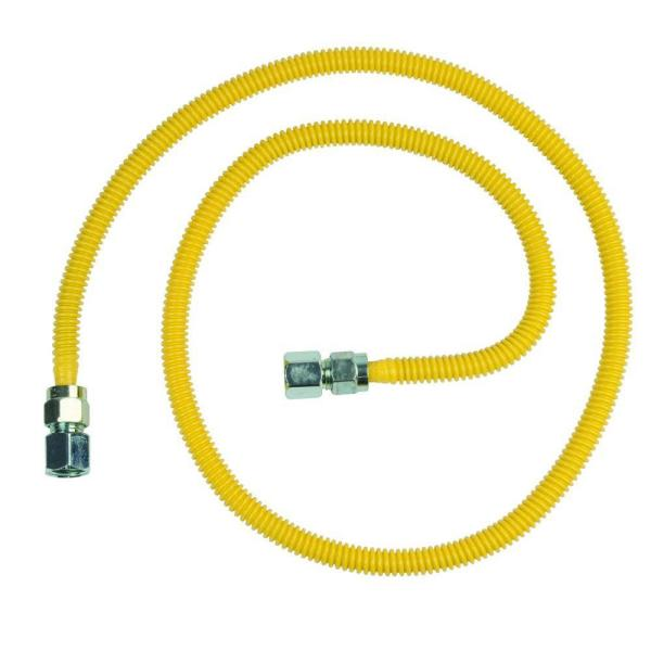 ProCoat 1/2 in. FIP x 1/2 in. FIP x 60 in. Stainless Steel Gas Connector 1/2 in. O.D. (53,200 BTU)