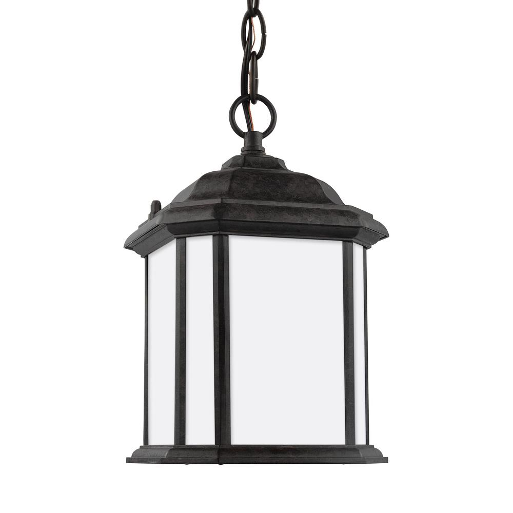Kent Oxford Bronze 1-Light Outdoor Hanging Pendant with LED Bulb