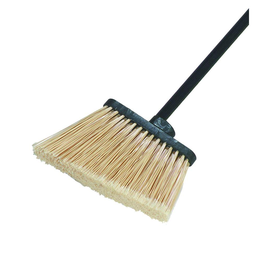 8 in. Flagged Angle Broom with 12 in. Flare Tan Bristles