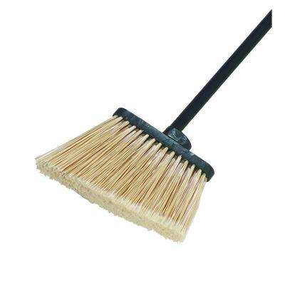 8 in. Flagged Angle Broom with 12 in. Flare Tan Bristles (Handle Not Included) (Case of 12)