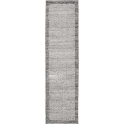 Del Mar Abigail Light Gray 2' 7 x 10' 0 Runner Rug