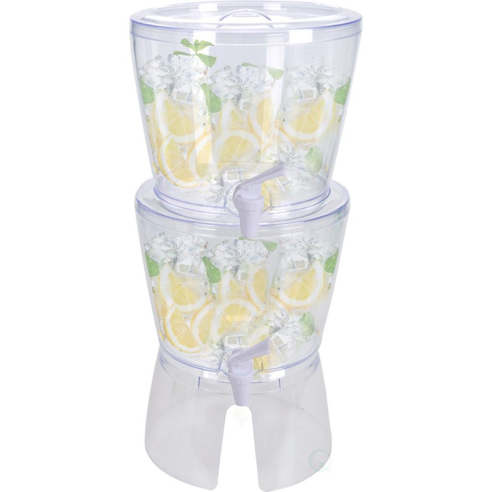 358.2 oz. Stackable Juice and Water Beverage Dispensers with Stand (Set