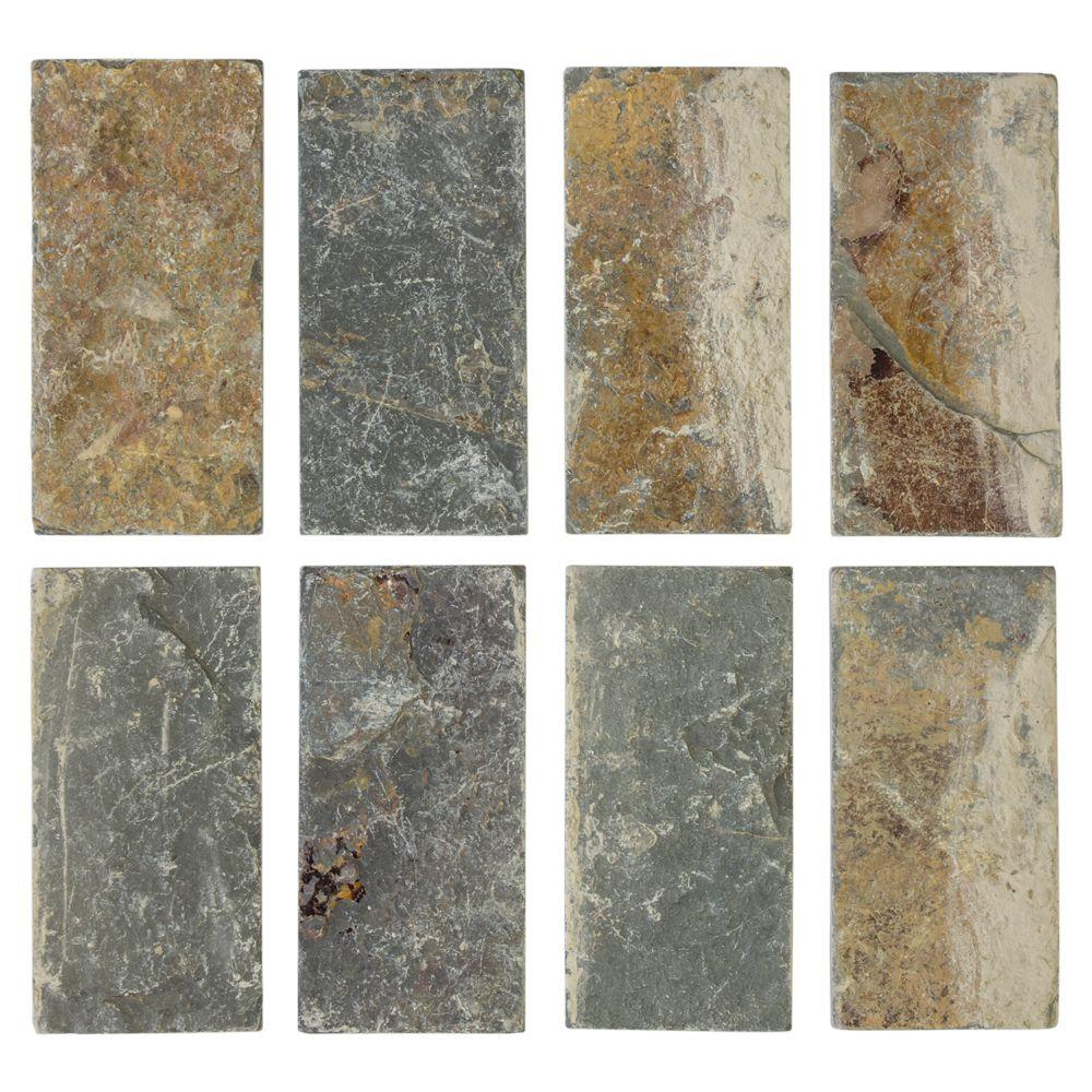 Rectangle Slate Tile Natural Stone Tile The Home Depot - 4 inch slate tile