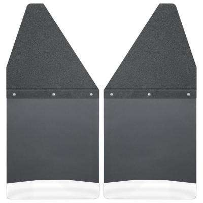 Kick Back 12 in. W Rear Mud Flaps with Black Top and Stainless Steel Weight