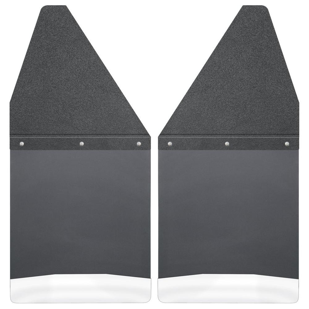 Husky Liners Kick Back 12 in. W Rear Mud Flaps with Black...