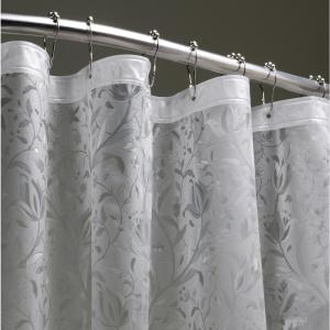 Floral 72 inch Silver 3D Shower Curtain by