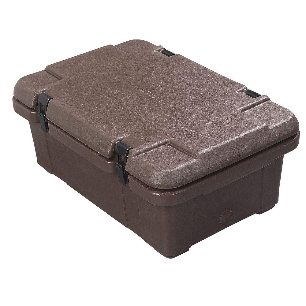Carlisle Cateraide 6 in. Deep Top Loading Pan Carrier for Single Layer of Pans in Brown