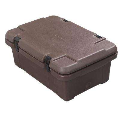Cateraide 6 in. Deep Top Loading Pan Carrier for Single Layer of Pans in Brown