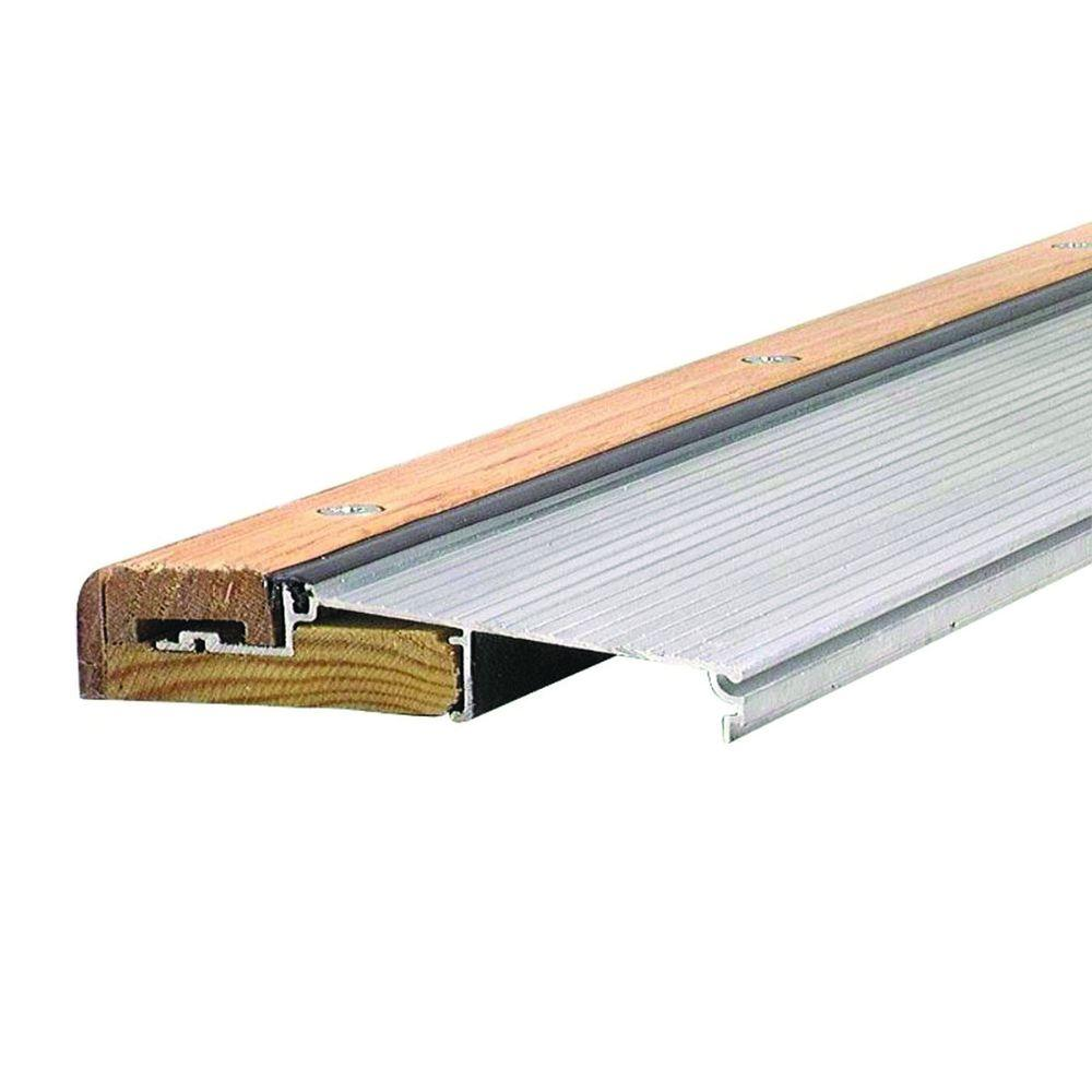 M-D Building Products Adjustable 5-5/8 in. x 30-1/2 in. Aluminum and Hardwood Sills - Inswing Threshold