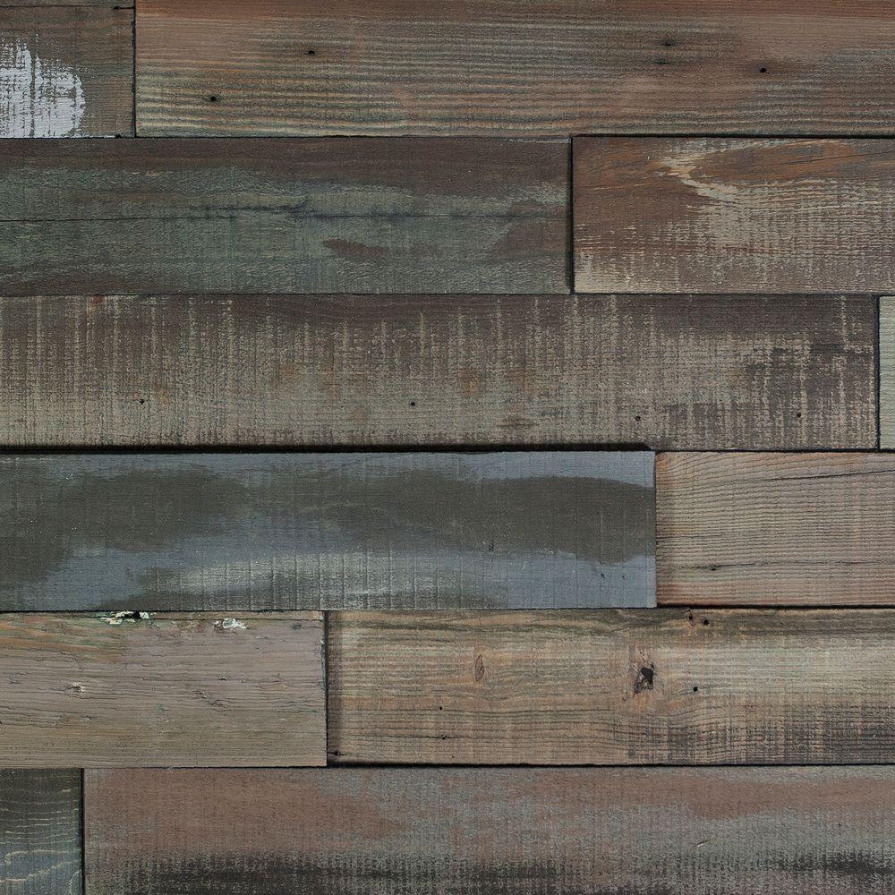 Nuvelle Deco Planks Weathered Gray 1/2 in. Thick x 4 in. Wide x 24 in. Length Solid Hardwood Wall Planks (10 sq. ft. / case)