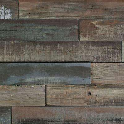Deco Planks Weathered Gray 1/2 in. Thick x 4 in. Wide x 24 in. Length Solid Hardwood Wall Planks (10 sq. ft. / case)