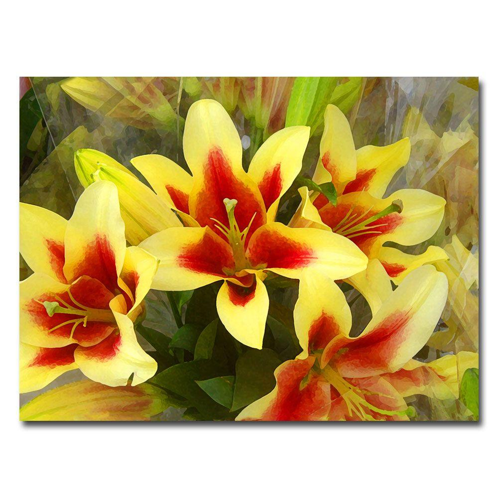 35 in. x 47 in. Lillies Canvas Art