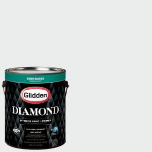 Click here to buy Glidden Diamond 1 gal. #HDGCN29U Crystal Clear White Semi-Gloss Interior Paint with Primer by Glidden Diamond.