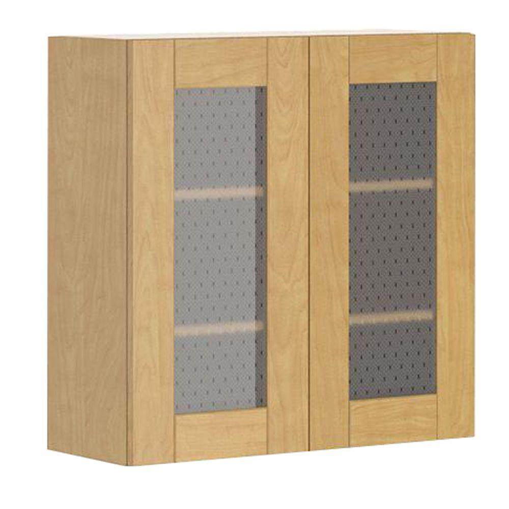 Ready to Assemble 30x30x12.5 in. Milano Wall Cabinet in Maple Melamine
